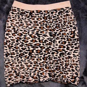 Never worn. Urban Outfitters cheetah print skirt.